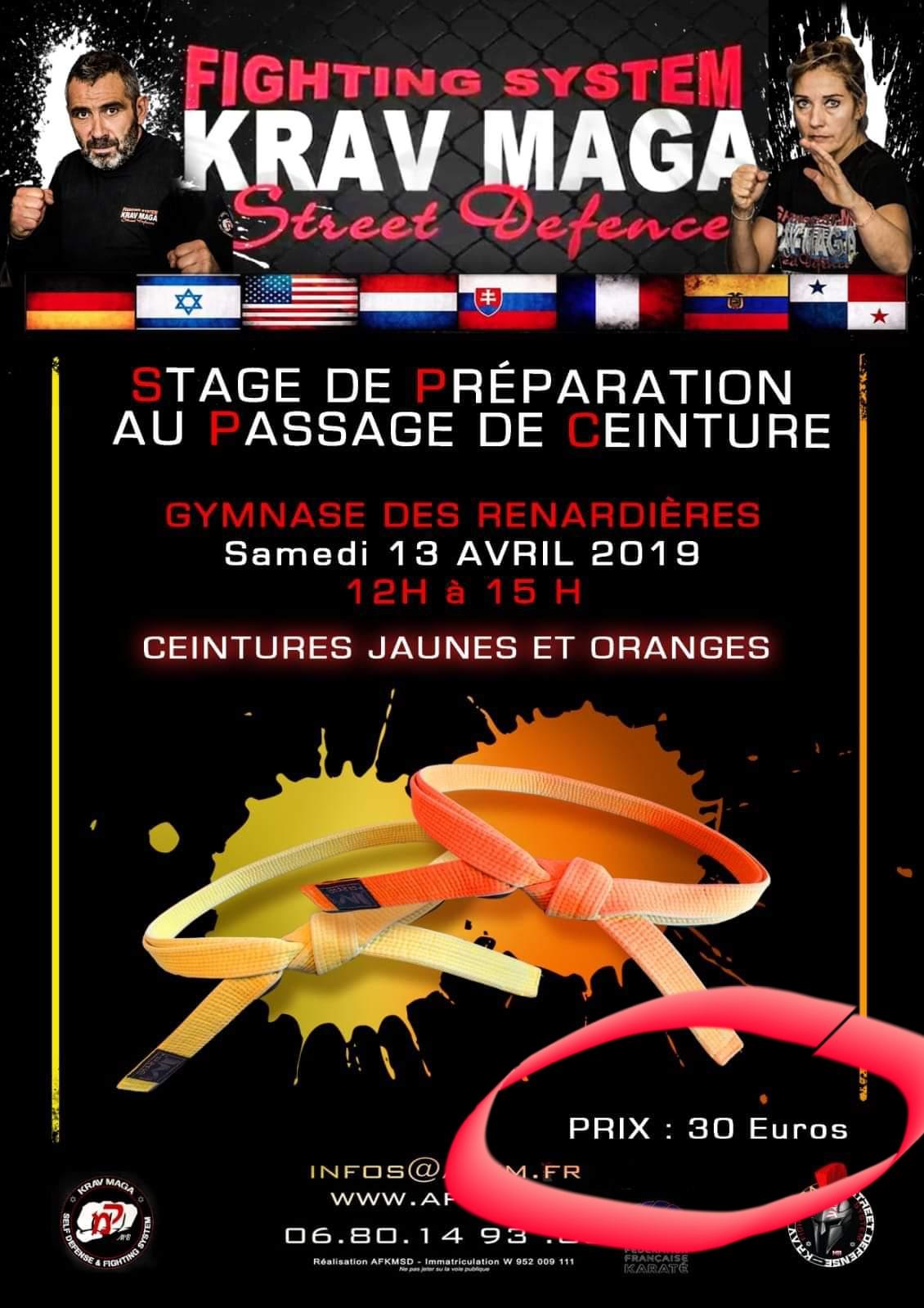 Stage Préparation ceintures jaune - orange